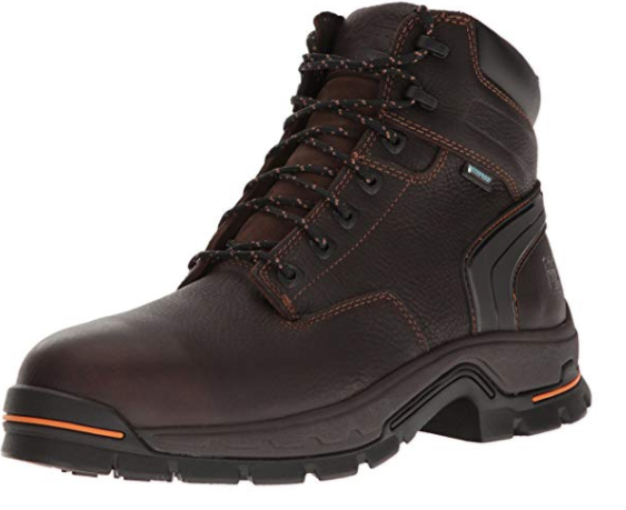 """Timberland PRO Men's Stockdale 6"""" Alloy Toe Waterproof Industrial and Construction Shoe"""