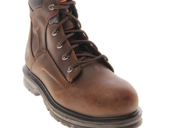 """Timberland Pro 85591 6"""" Steel Toe Magnus Brown Boots 5W"""