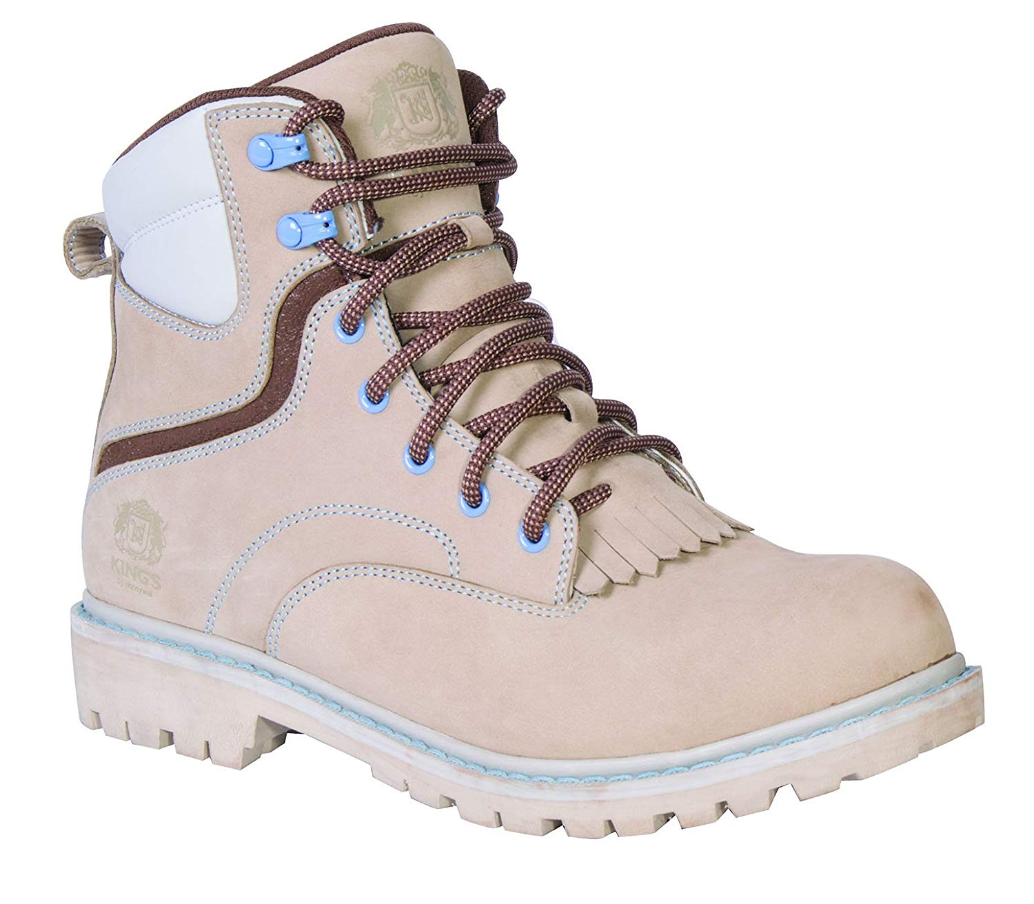 Kings Leather Steel toe Womens Work Boot with Good year Welt