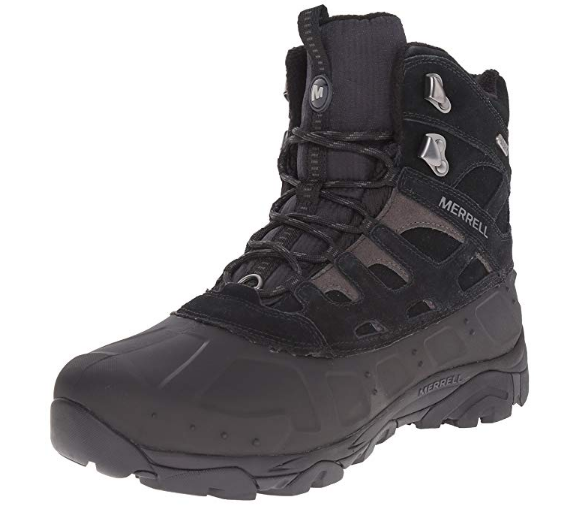 Merrell Men's Moab Polar Waterproof Winter Boot _ Hiking Shoes