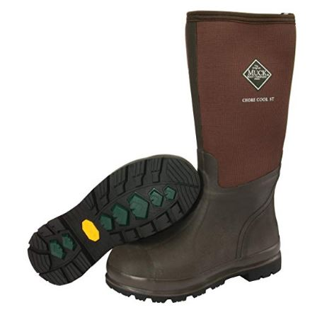 Muck Chore Cool Warm Weather Tall Steel Toe Men's Rubber Work Boots_