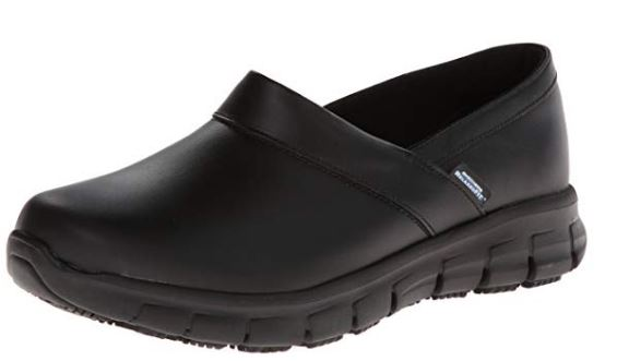 Skechers for Work Women's Relaxed Fit Slip Resistant Work Shoe_ Shoe