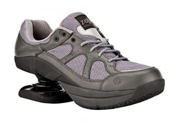 Z-CoiL Pain Relief Footwear Women's Liberty Slip Resistant Gray Lea