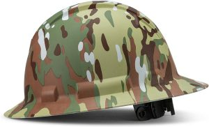 Full Brim Pyramex Hard Hat, Army Camo Camouflage Design Safety Helmet 4pt, By Acerpal