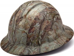 Pyramex Ridgeline Full Brim Hard Hat, 4-Point Ratchet Suspension, Matte Camo Pattern