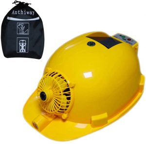 Summer Solar Cooling Hard Hat for Men and Women with Fan and Light,Storage bag,USB Output,3000mAh Built-in Battery