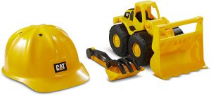 CatToysOfficial Construction Loader with CAT Hard Hat Sand Set Outdoor Toys, Yellow, Model Number: 82359
